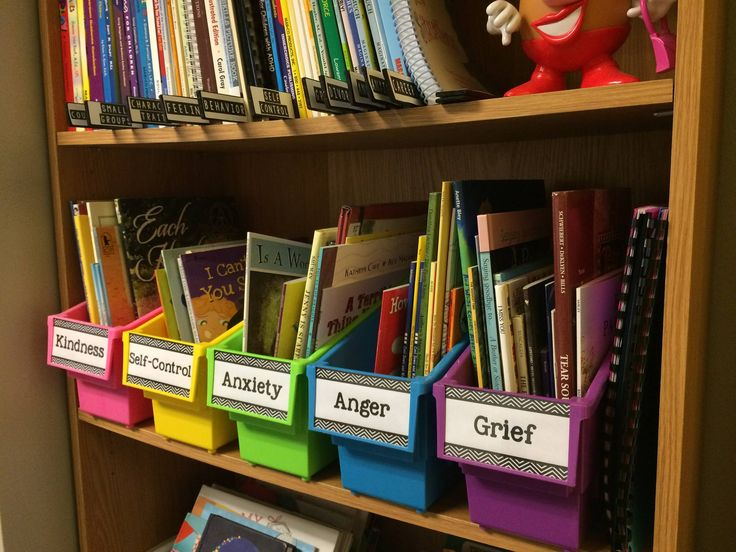 Love this organization for counselor library. Correlate Library Thing categories to categories on shelves.