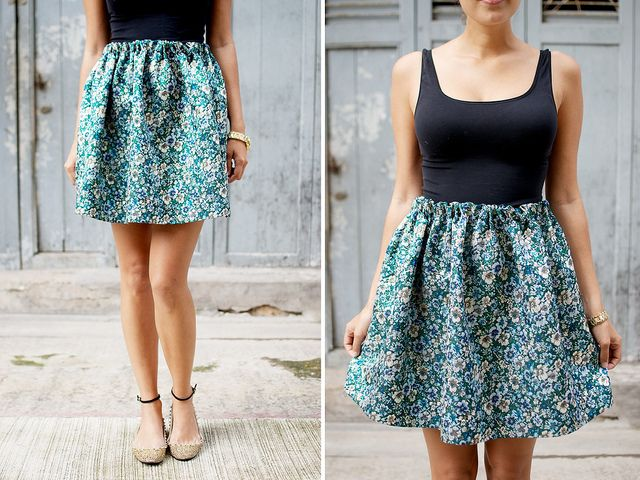 DIY HAND SEWN SKIRT  Got a cherry blossom maxi dress and I plan to turn it into a skirt. This will come in super handy!