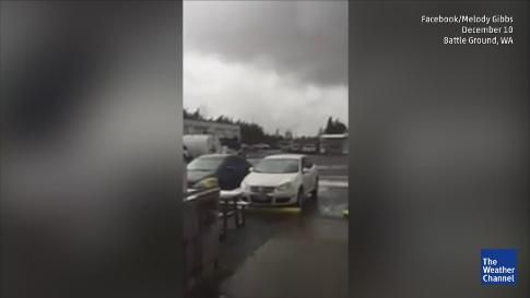 The latest round of stormy Weather on Thursday [10DEC2015] even spawned a Tornado that caused damage in the Southwest Washington town of Battle Ground. | Meteorologist Domenica Davis gives the latest on the round of storms in the Northwest that has killed at least 2 people.