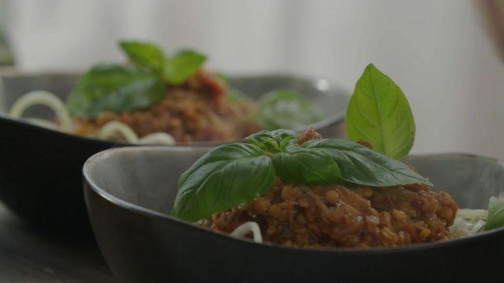 Bolognese och zucchinipasta