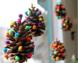 Výsledek obrázku pro vánoční ozdoby ze šišek