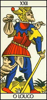 O Louco : O arcano zero do Tarot indica situações ousadas: uma renovação impensada, uma aventura inesperada e várias oportunidades. Caminhos abertos.