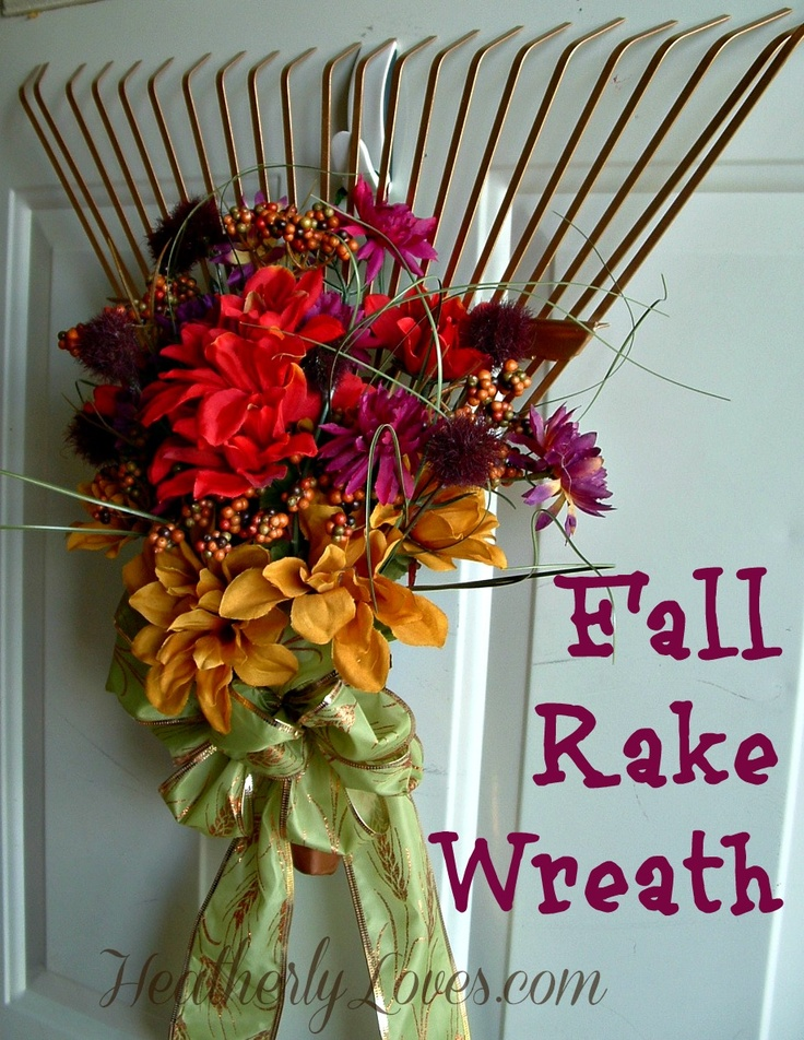 Fall Rake Wreath: Fall Decor, Doors Decor, Fall Crafts, Google Search, Fall Halloween, Fall Wreaths, Fall Rake, Fall Autumn Harvest, Rake Wreaths