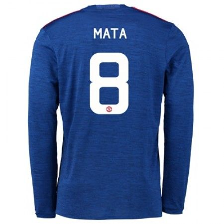 Manchester United 16-17 Juan Mata 8 Borte Drakt Langermet.  http://www.fotballpanett.com/manchester-united-16-17-juan-mata-8-borte-drakt-langermet.  #fotballdrakter