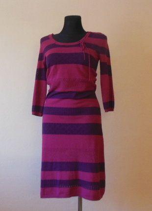 Kup mój przedmiot na #vintedpl http://www.vinted.pl/damska-odziez/krotkie-sukienki/16287941-fransa-dzianinowa-sukienka-midi-38