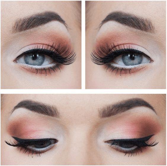 Las sombras rosa palo vienen con todo esta temporada. #Eyes #EyeLook #Ojos #Sombras
