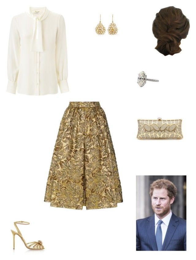 """""""Hosting a reception for Team Great Britain"""" by kleinnicole ❤ liked on Polyvore featuring Yves Saint Laurent, Prada, Charlotte Olympia and Pippa Small"""