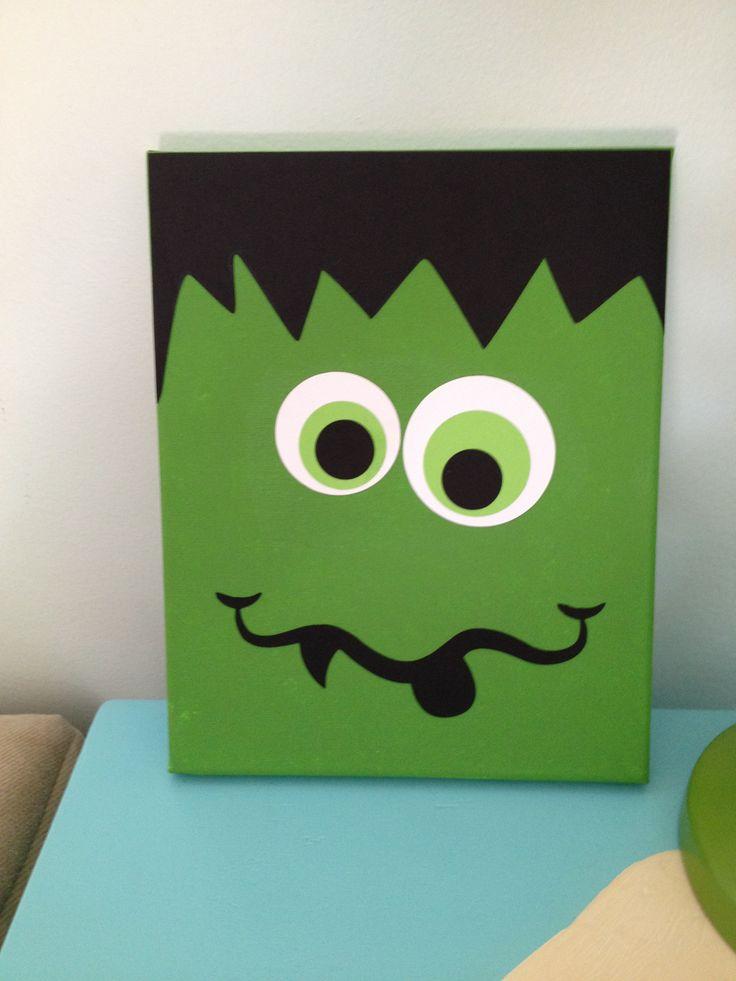Frankenstein Halloween seasonal canvas