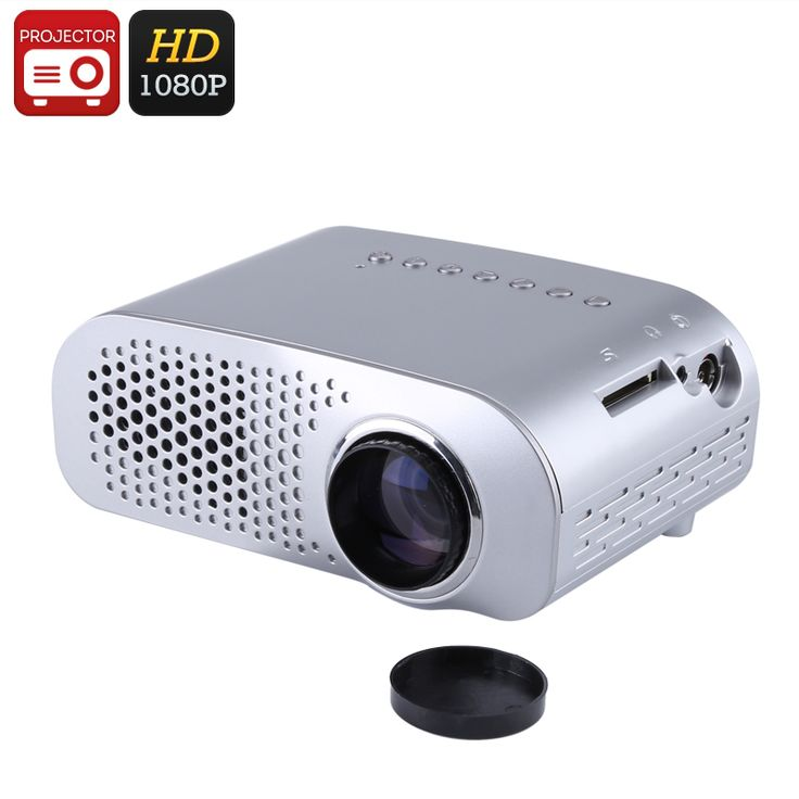 Mini Projector - 100 Lumen, 1080p Support, 500:1 Contrast Ratio, 32GB SD Card Slot, HDMI, VGA, 480x320p Native Resolution - Cheap mini projector with 100 lumen LED. Perfect for watching movies or sports. 1080p support and built-in speakers for a great media experience.