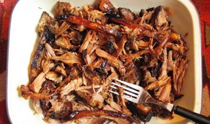 Sugar-free barbeque pulled pork