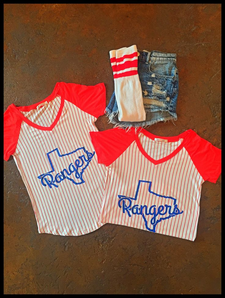 Texas Rangers Baseball V-neck Tee