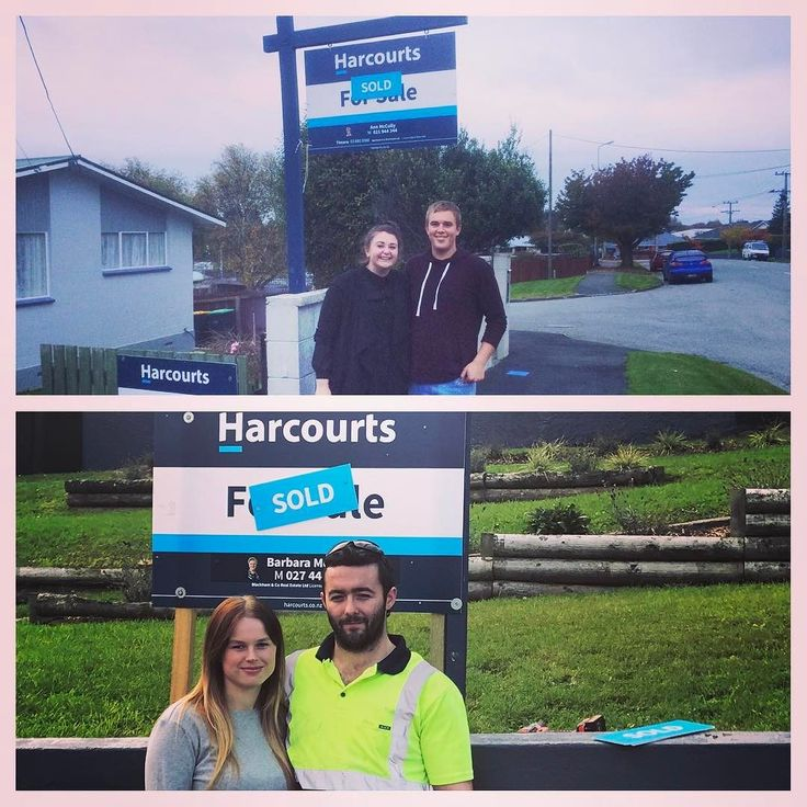 SOLD! 33 Grants Rd & 7 Cameron St Timaru. Congrats Ben and Chrissy as well as Kelly and Jarmen on your first homes. Great also to be part of the Harcourts team selling each others listing. #harcourts #teamwork #firsthomebuyers #timaru