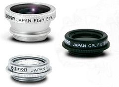 Gizmon lens clip is device agnostic & fits your iPad, iPhone, Galaxy S4, HTC & even Laptop.  Fisheye lens are wide-angle lens that produce strong visual distortion & create a wide panoramic or hemispherical image  Circular Polarizer Lens are designed to reduce glare & unwanted reflections out of images. Blue skies are bluer, clouds magically stand out & your beach shots look fantastic.   Macro lens: Take closeup shots of your wedding ring, bees on flowers, your eyes etc