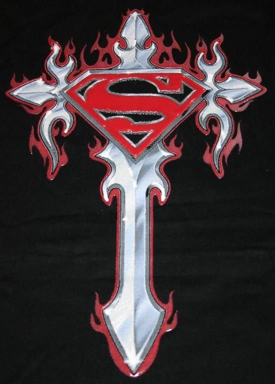 Superman logo on gothic cross by SHADE22-12