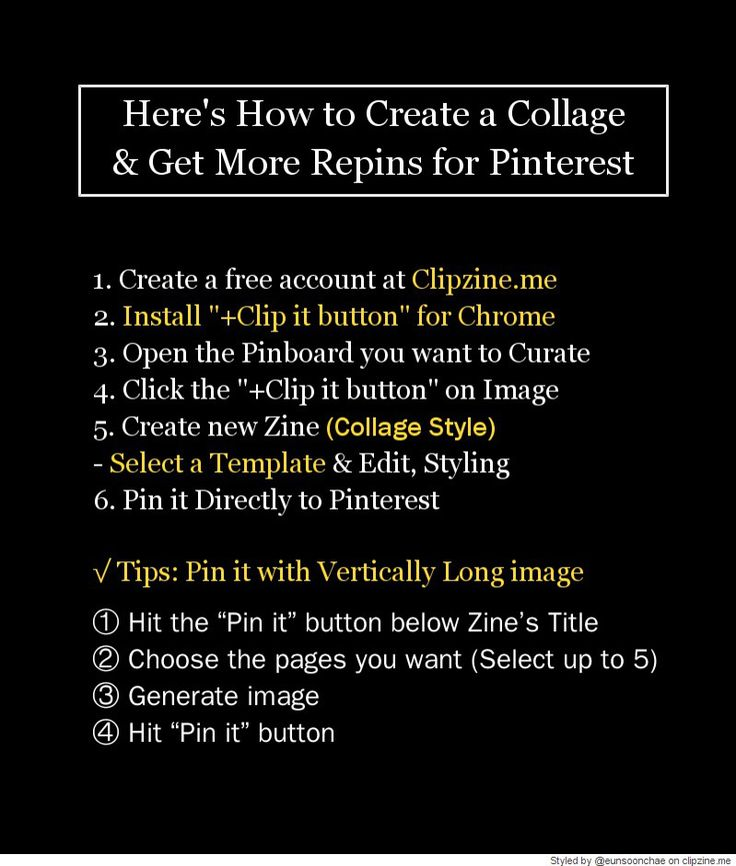 Here's How to Create a Collage & Get More Repins...