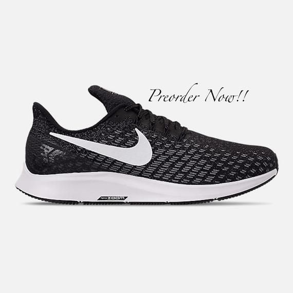 c52d3b328b987 Swarovski Women's Nike Air Zoom Pegasus 35 Black & White Sneakers ...