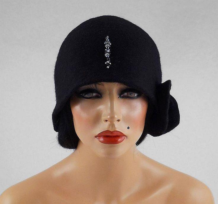 Felted Hat Cloche hat Art Hat Flapper hat Art deco hat Retro hats Felt wearable art Nunofelt Nuno felt la belle epoque. $139.00, via Etsy.