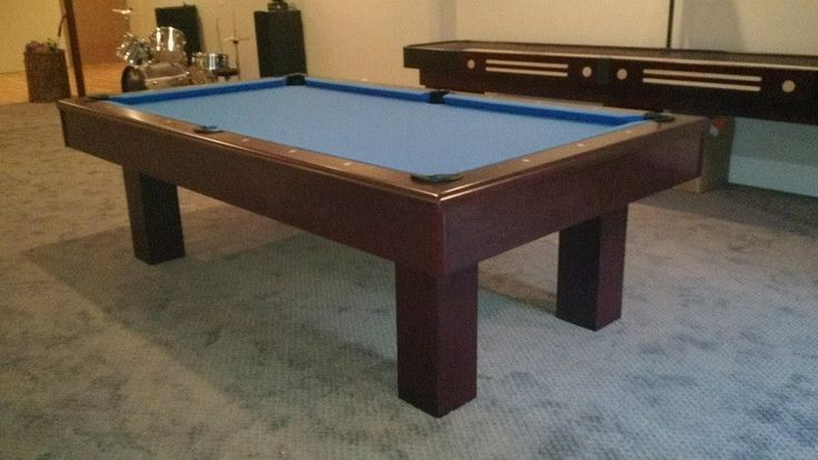 Connelly Del Sol pool table, shown in Millcreek on Maple finish. The Del Sol, and all Connelly pool table models are available at Maine Home Recreation.