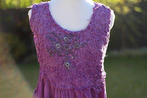 Purple boho dress violet gypsy dress purple festival maxi