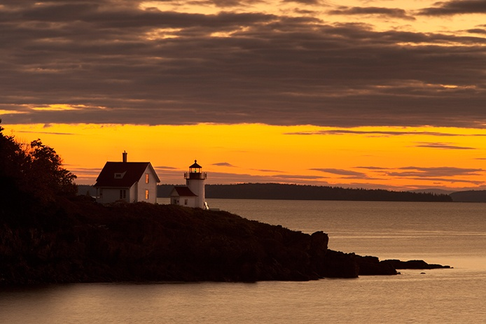 Sunrise at Curtis Island Lighthouse, Camden Maine USA