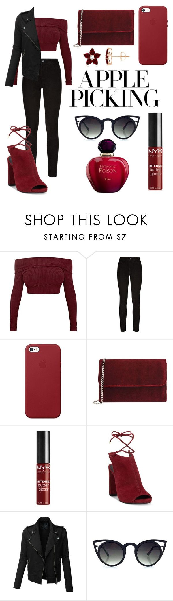 """""""pinneapple"""" by sm1leforme ❤ liked on Polyvore featuring Paige Denim, Apple, George J. Love, NYX, Kenneth Cole and LE3NO"""