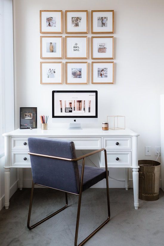 Office Decorating Ideas Blog Small Home Office Decorating Ideas | CB2 Blog #Homeofficeideas