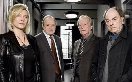 Amanda Redman, James Bolam, Dennis Waterman and Alun Armstrong in BBC police series New Tricks.
