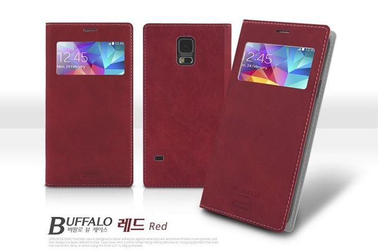 ARIUM BUFFALO VINTAGE LEATHER VIEW CASE FOR GALAXY NOTE 2. $14.99