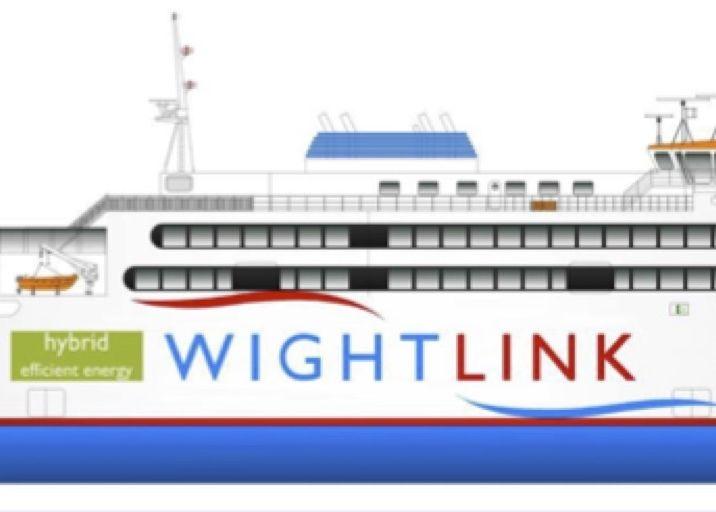Wightlink diesel electric hybrid ferry