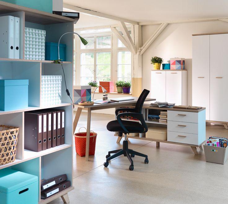 bureau Flora Büro - matériau dérivé du bois - blanc - Eurobonus - Toptip - Habitez comme vous vivez.
