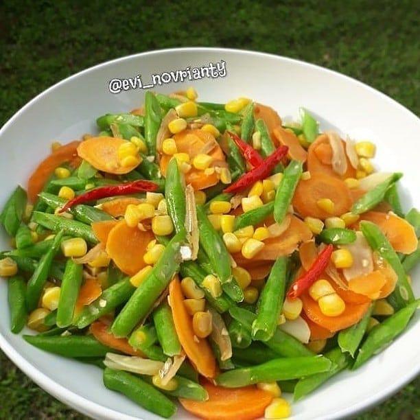 Cah Buncis Jagung Wortel Resep Masakan Masakan Vegetarian Makanan Sehat