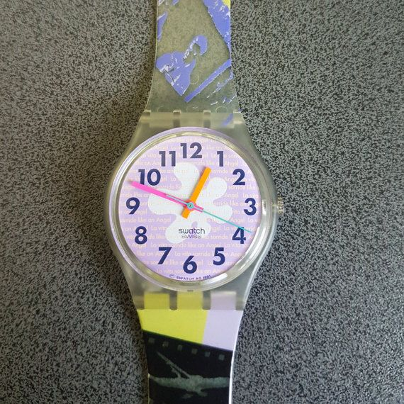 Swatch Rave Fall Winter Collection Standard Gents 34mm JUST AS NEW, in Good condition Works Good   1991 Vintage Swatch Watch Rave GK134  Diameter case 33 mm.  Water resistant 30 meter / 100 Feet.  New, never worn