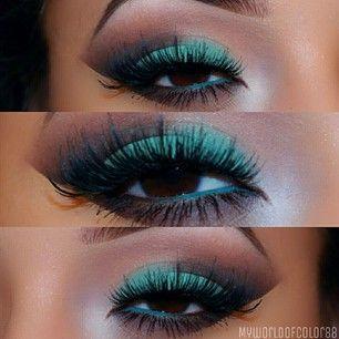 Emerald eyeshadow! #ConnieArtDesign #eyeshadow #beauty