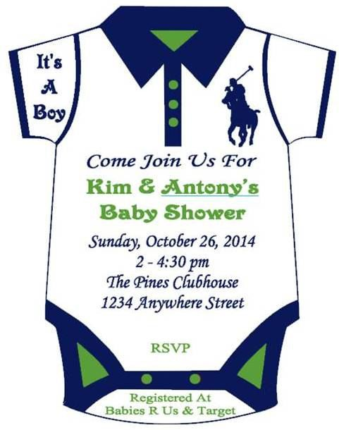 Polo+Themed+Onesie+Baby+Shower+Invitation+by+SomethingSweetFavors