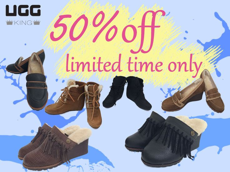 50 % off! Come quickly. Limited time only.