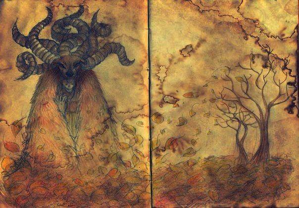 Mysticism. Autumn. Goat horns.  Author: Oreki Rea