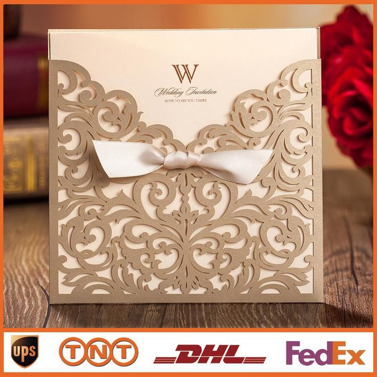 Laser Cut Wedding Invitations Bow Gold Hollow Invitation Card For Party Supply Free Printing Cw5011 Wedding Invitation Email Wedding Invitation Maker From My_shop, $0.98| Dhgate.Com