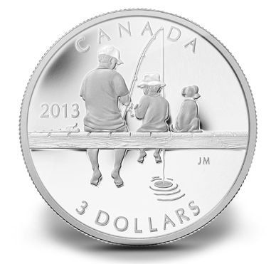 Fine Silver Coin - Fishing (2013)