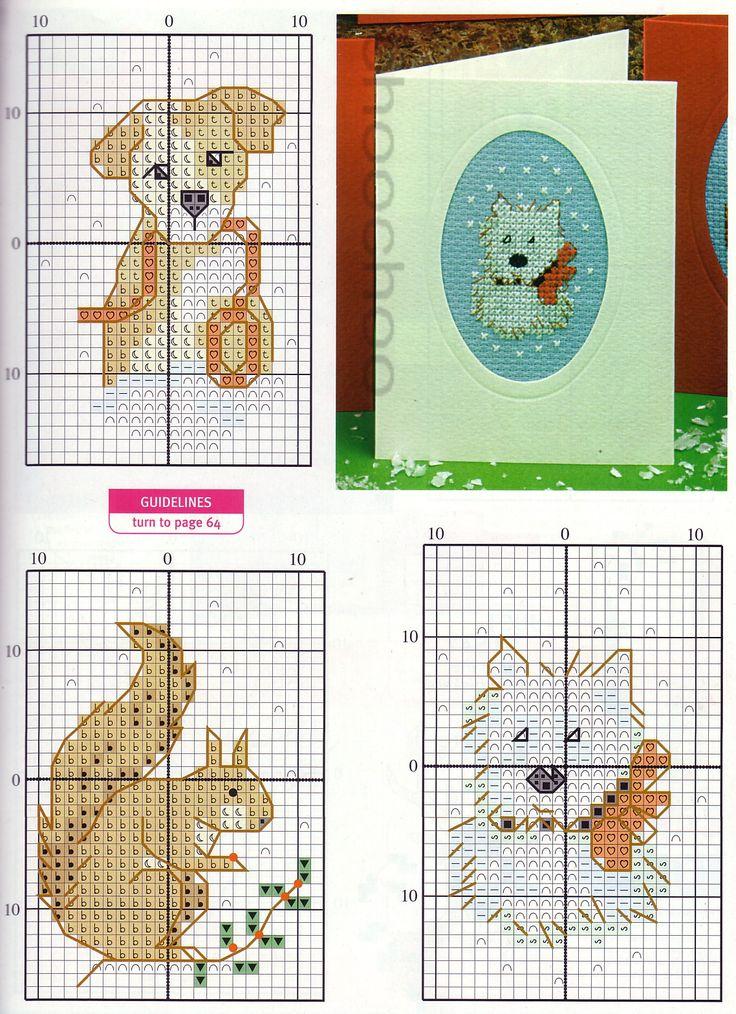 Схема вышивка открытка