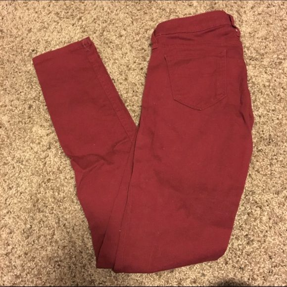 Red Skinny Pants Size 1. Worn only a few times! True red color just have fuzzys, a lint roller will be used before shipment :) Arizona Jean Company Pants Skinny