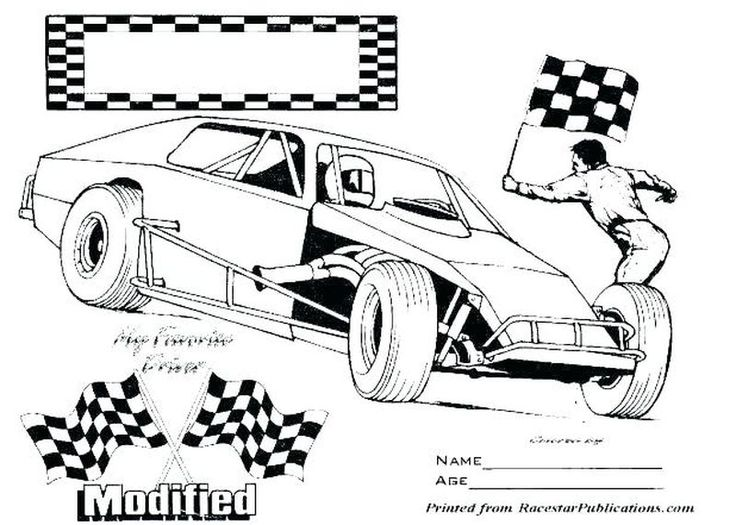 Nascar Coloring Pages Printable di 2020