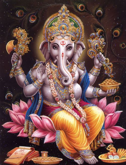 Ganesha. . . he rocks.  He's been a personal totem of mine since I was a teenager.