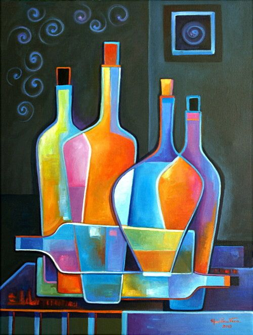 Original Abstract  Oil Painting on canvas Cubist by MarlinaVera, $450.00