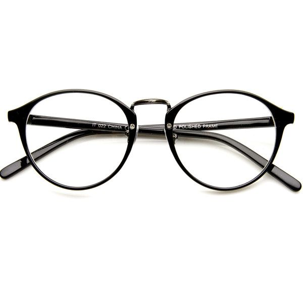 Vintage Dapper Indie Fashion Clear Lens Round Glasses 8768 ($9.99) ❤ liked on Polyvore featuring accessories, eyewear, eyeglasses, glasses, horn rimmed glasses, vintage glasses, vintage style eyeglasses, clear lens wayfarer and vintage wayfarer