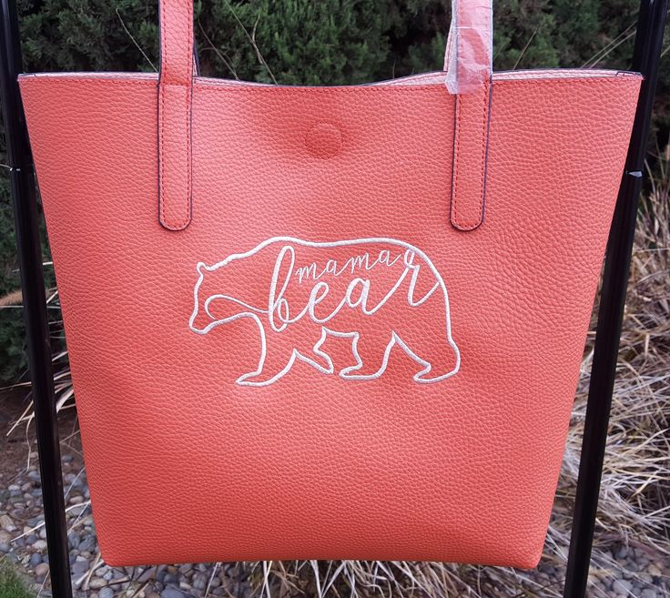 Mama Bear Embroidered Tote bag, Embroidered Purse, Custom Tote Bag, Custom Purse, Mama Bear Purse, Mama Purse, Mama Tote by Sew4MyLoves by Sew4MyLoves on Etsy