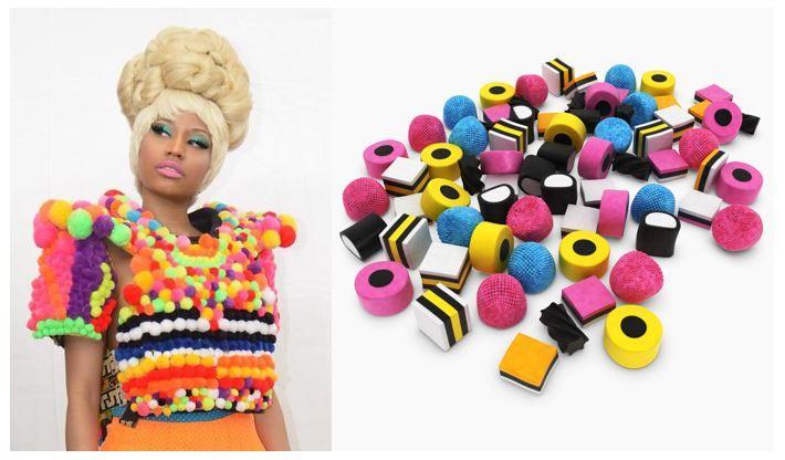 Nicki Minaj colors and licorice allsorts
