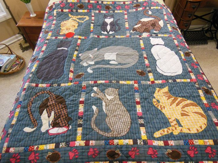 Cats Throw Quilt Wall Hanging