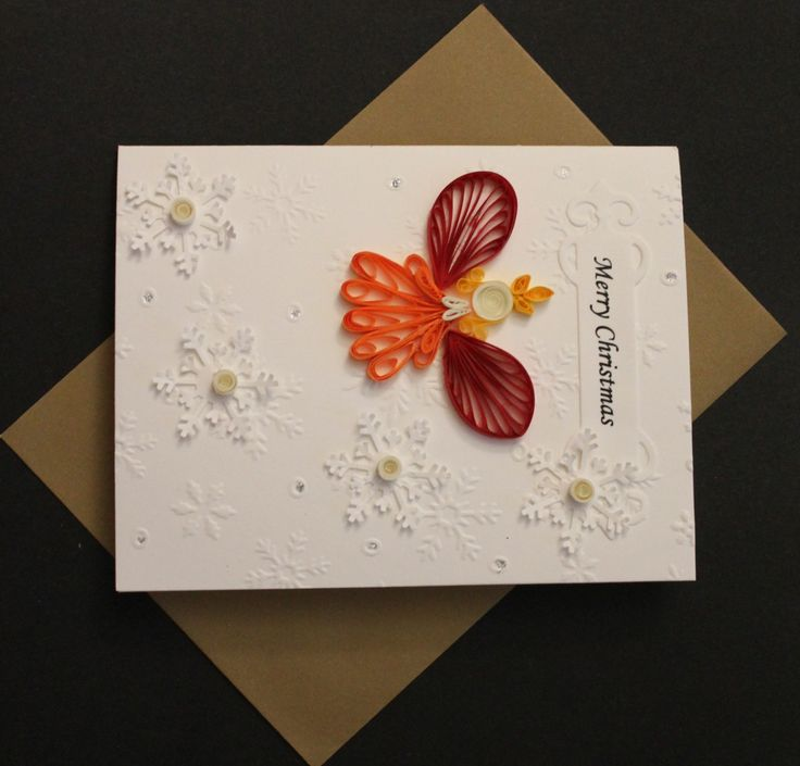 Quilled angel Christmas card Handmade by Especially4UHandmade