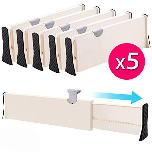 Drawer Dividers Organizer 5 Pack Adjustable Separators 4 Https