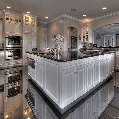 Best 25 big kitchen ideas on pinterest dream kitchens for Large kitchen designs